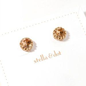 stella & dot brown crystal earrings